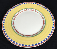 "Villeroy & Boch Twist Beá Dinner Plate 10.75"" Germany Yellow And Multicolors"