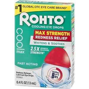 Rohto Cooling Eye Drops Maximum Redness Relief 0.4 fl oz 13 ml EXP: 10/2021