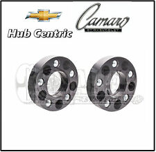 2 X Chevy Camaro 2010-2016 Black Hub Centric 20 MM Thick Wheel Spacers Adapters
