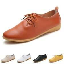 Women's Round Toe Comfort Lace up Brogue Moccasins Oxfords Office Work Shoes B