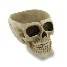 Grinning Human Skull Bowl Wickedly Gothic Dish