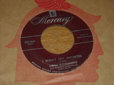 OBSCURE DINAH WASHINGTON 45.  I WON'T CRY ANYMORE  /  DON'T SAY YOUR SORRY