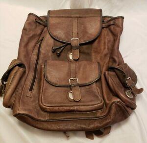 Backpack Soft Leather Genuine Vintage Bag Women Travel Brown Shoulder VERY NICE!