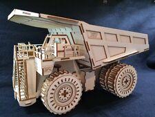 Découpe Laser en Bois Chat 797 camion benne Modèle 3D/PUZZLE Kit