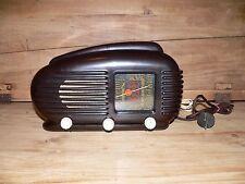 TESLA TALISMAN 308U Streamline Bakelite Tube Radio Made in Czechoslovakia 1950s