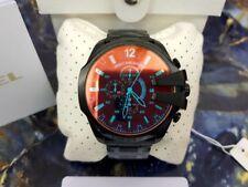 NUOVO ORIG. DIESEL DZ4318 Nero Ion-Plated Mega Chief Cronografo Orologio da uomo