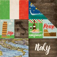 "Echo Park Around the World - ITALY - 12x12"" d/sided scrapbooking paper"