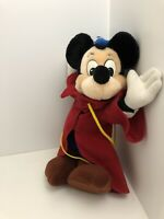 Mickey Mouse Sorcerer Disney Fantasia Plush Stuffed Animal Magical Wizard Toy