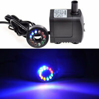 10W Electric Submersible Pond Pump Water Mini Fountain Feature Small LED 600L/H