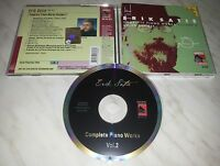 CD SATIE - COMPLETE PIANO WORKS 2 - NUOVO - NEW