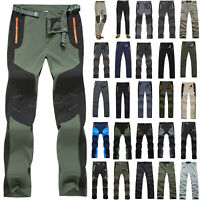 Men Quick Dry Trousers Tactical Waterproof Cargo Hiking Climbing Combat Pants