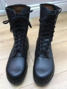 New Men's British Army Combat High Leg Boots in Black Leather