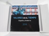 LIBRO DE CORREOS VALORES EN EL TIEMPO 2018 ESPANA Y ANDORRA NUEVO CAJA LIBRO-D