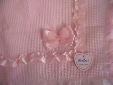 Beautiful Shawl Blanket Ribbon Bows Baby Pink Spanish Romany Style by Kinder