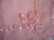 Beautiful Shawl Blanket Ribbon Bows Baby Pink Spanish Romany Style by Kinder
