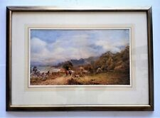 "Listed British Artist - Pearson -19th.C. - W/C -12"" x 22"" Signed"