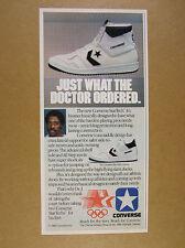 1984 Dr. J Julius Erving photo Converse StarTech Basketball Shoes print Ad
