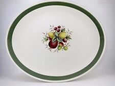 "Crown Ducal Serving Platter 14.5"" NORVIC CITRUS VGUC Vintage Earthenware China"