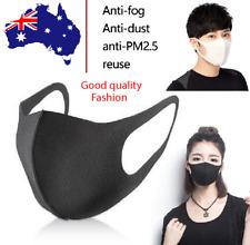 5× Black Fashion Washable Unisex Face Cover Mouth Masks Protective Reusable