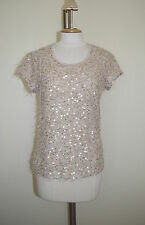 Hips Sequin Party Cap Sleeve Tops & Shirts for Women