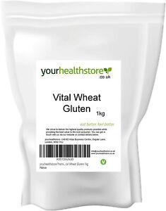 yourhealthstore® Premium Vital Wheat Gluten Flour 1kg, 87.5% Protein, Non GMO