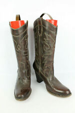 Bottes cowgirl BRONX Cuir Marron T 39 / UK 5,5 BON ETAT