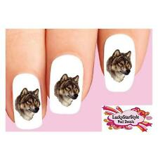 Waterslide Nail Decals Set of 20 - Brown Wolf