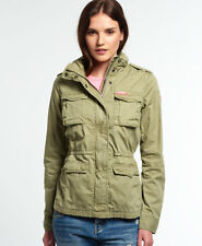 New Womens Superdry Rookie Military Jacket Dull Olive