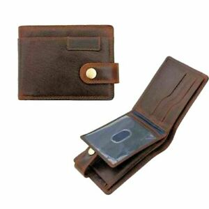 Prime Hide Mens Leather Wallet With RFID New York Brown E/W