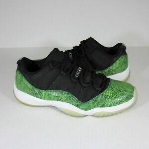 Nike Air Jordan 11 Retro Low Green Snakeskin 528895 033 Mens 10.5 N413