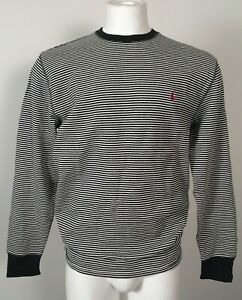 NEW Polo Ralph Lauren Sweatshirt! Navy & Red or Black & White Striped  Midweight