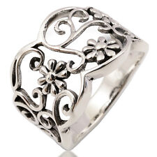 Lovely Thai Ring Flower 925 Sterling Silver Size 10 T