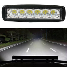 Super Bright 18W Driving Fog Lights Flood 6LED Work Lamp Bar For Offroad SUV Car