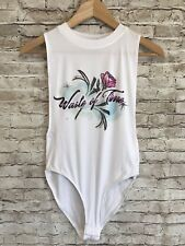 Out from Under Waste Of Time Bodysuit Small NWT White Urban Outfitters
