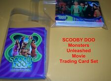 SCOOBY DOO  Monsters Unleashed     Complete base card set     72 cards