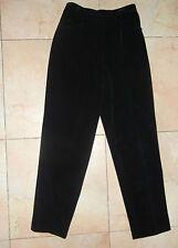 Jones NY pants Black Velvet Sz 8  Dressy Sophisticated cotton Poly