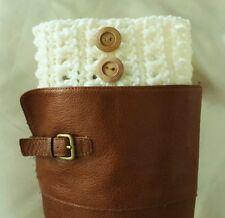 Handmade Crochet Cream Boot Cuffs Boot Toppers Leg Warmers