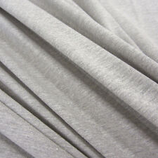 Stoff Meterware Baumwolle Jersey grau hellgrau meliert Tricot T-Shirt weich NEU