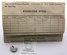 NOS Stainless Accutron 214 Battery Hatch Cover, Contact Spring and Gasket 9871SS