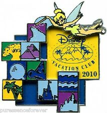 WDW/DLR Disney Vacation Club (DVC): 2010 Tinker Bell with Icons Logo Pin