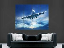 JUMBO JET 747 AEROPLANE PRINT ART WALL PICTURE POSTER  GIANT HUGE