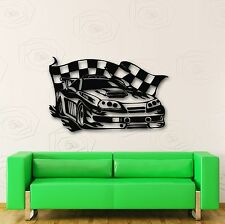 Wall Stickers Vinyl Decal Sports Car Rally Race Garage (ig596)