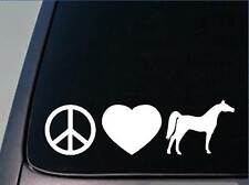 "Peace Love Arabian sticker *H58* 8"" vinyl decal egyptian arabians saddle boots"