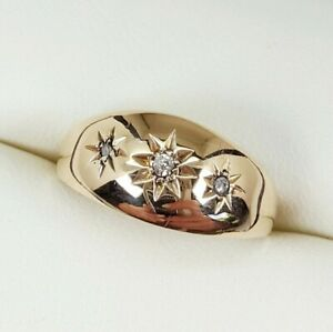 Diamond Gypsy Ring In 18ct Yellow Gold Finger Size N