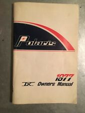 New Listing1977 Polaris Snowmobile Tx Owners Manual Vintage