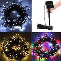 12M 100 LED Solar Power Fairy Light String Lamp Party Xmas Decor Outdoor GB
