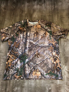 CABELAS Realtree Classic Fit Inhibit Hunting Short Sleeve Crew Neck T Shirt 2XL