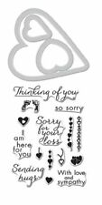 So Sorry Bereavement Hero Arts Clear Stamp & Cut Hearts Die Set DC185 NEW!