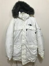 The North Face Mens Jacket Coat White Mcmurdo Parka Goose Down Hyvent Sz XXL