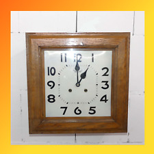 Antik ODO Wanduhr mit mechanischen 7 Tage Uhrwerk, halbe Stunde Schlagwerk
